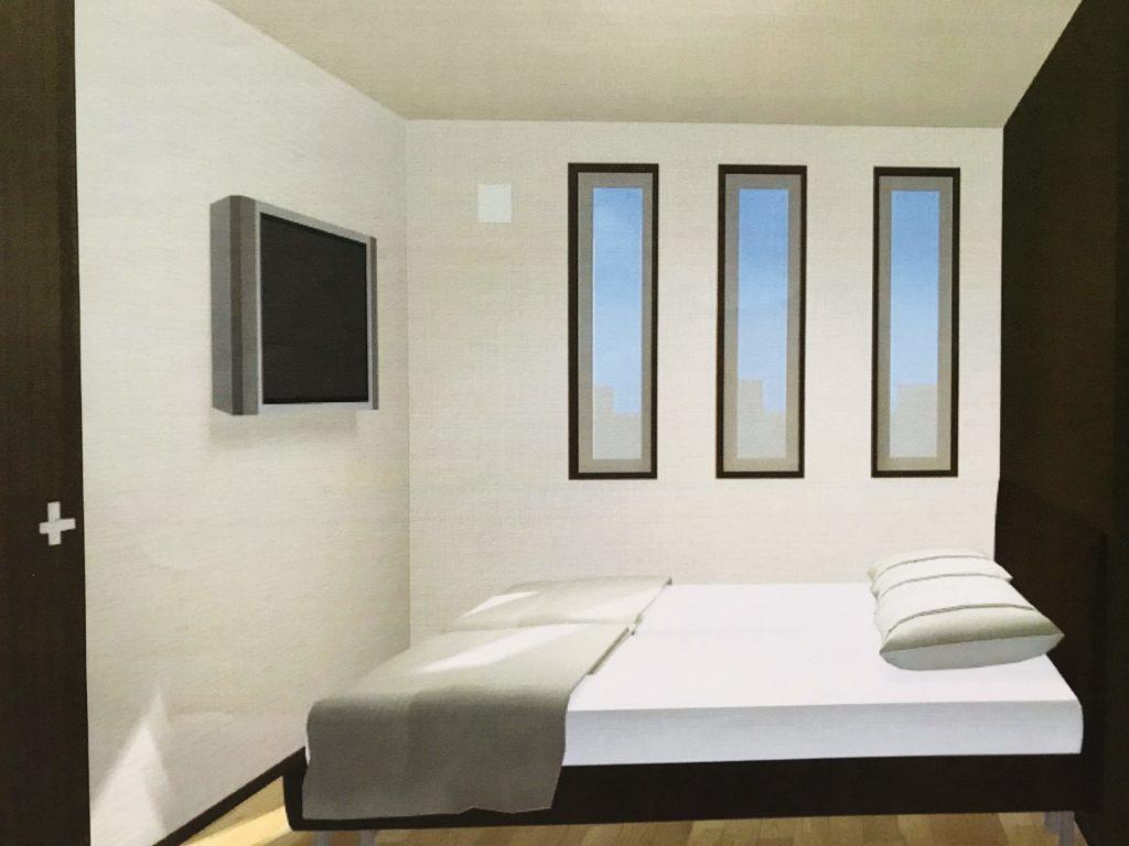 新築寝室の3D内覧画像