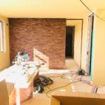 住友林業で建築中の室内